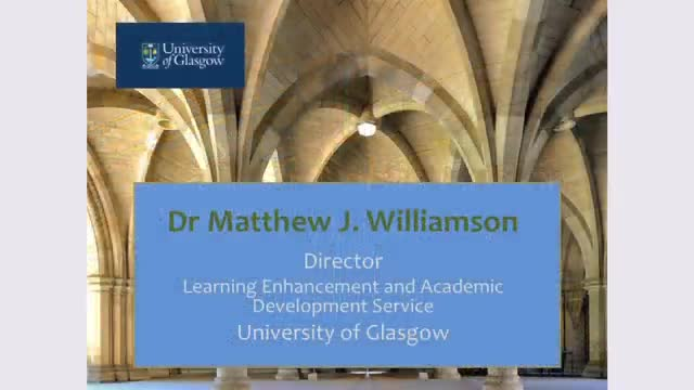 What do universities mean by 'excellent teaching'? – Dr Matthew Williamson