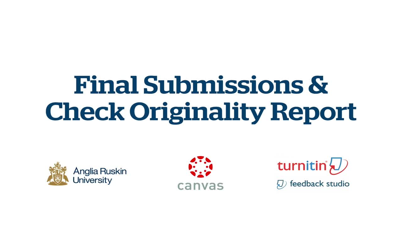 Accessing and Submitting to Turnitin GradeMark