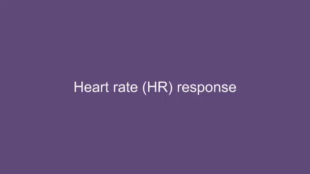Cardiovascular responses to exercise: HR