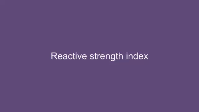 Assessment of neuromuscular power: Stretch shortening cycle (Reactive strength index)
