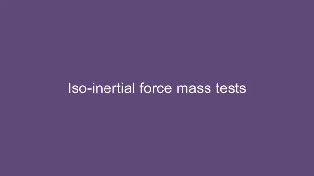 Assessment of neuromuscular power: Stretch shortening cycle (Iso-inertial force-mass tests)