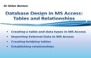 Database Design in MS Access: Tables and Relationshps