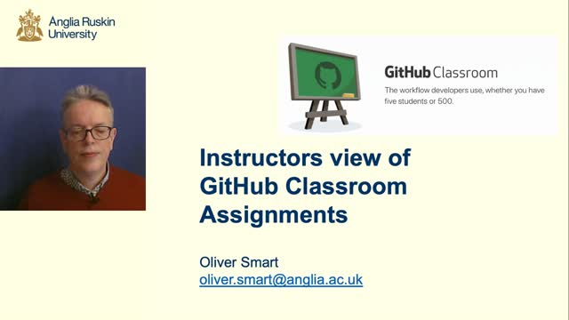 GitHub Classroom Assignments for Instructors