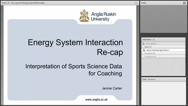 Recap Lecture & Methods of Energy Expenditure Assessment